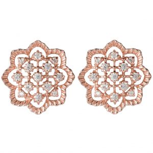 Agra Earrings In Rose Gold