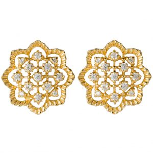 Agra Earrings In Yellow Gold