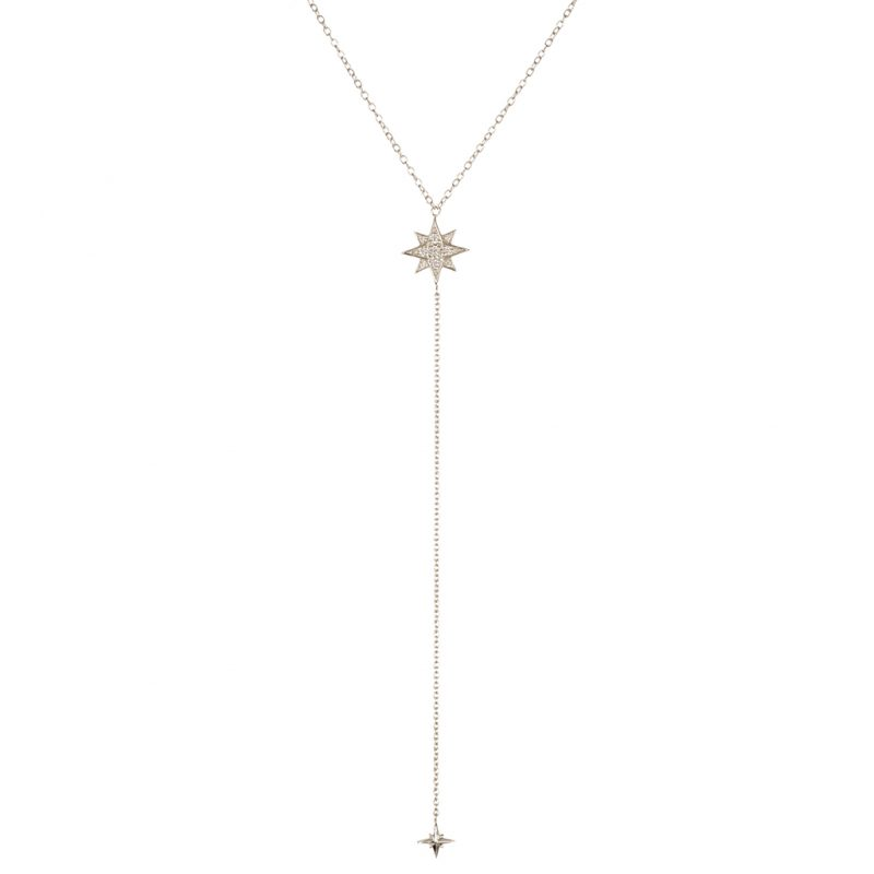 Astrid Lariat Necklace In Sterling Silver