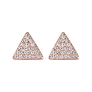Austin Triangle Earrings In Rose Gold