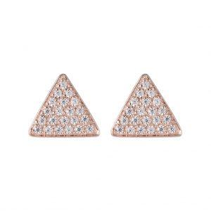 Austin Triangle Earrings In Rose Gold