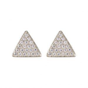 Austin Triangle Earrings In Sterling Silver