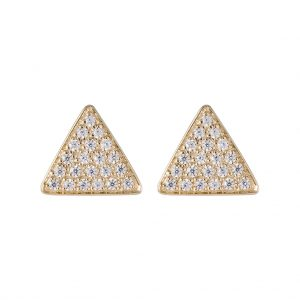 Austin Triangle Earrings In Yellow Gold