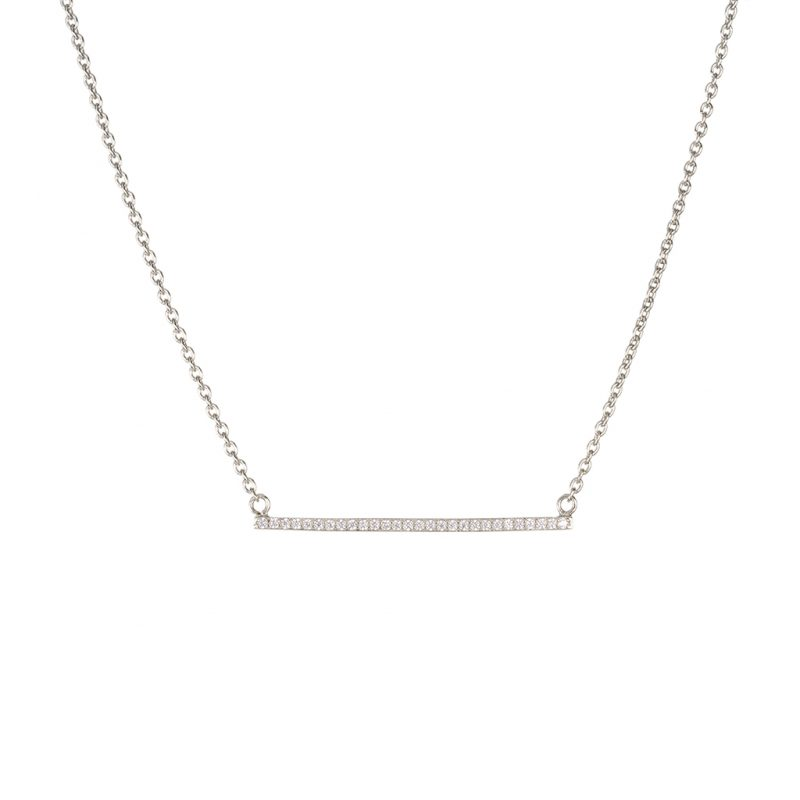 Brooklyn Bar Necklace In Sterling Silver