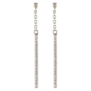 Brooklyn Drop Earrings In Sterling Silver