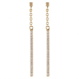 Brooklyn Drop Earrings In Yellow Gold