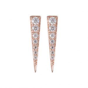 Camden Triangle Earrings In Rose Gold