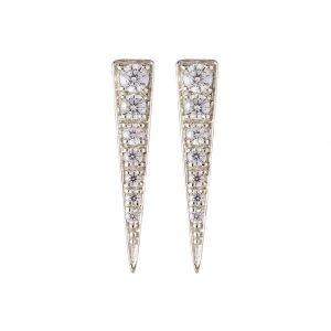 Camden Triangle Earrings In Sterling Silver