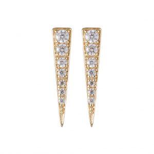 Camden Triangle Earrings In Yellow Gold
