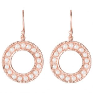 Cara Pearl Earrings In Rose Gold