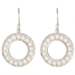 Cara Pearl Earrings In Sterling Silver