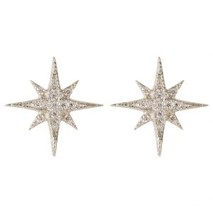 Celeste Star Earrings In Sterling Silver