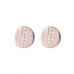 Chelsea Disc Earrings In Rose Gold