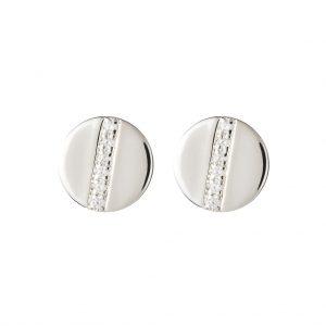 Chelsea Disc Earrings In Sterling Silver