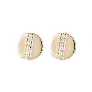 Chelsea Disc Earrings In Yellow Gold