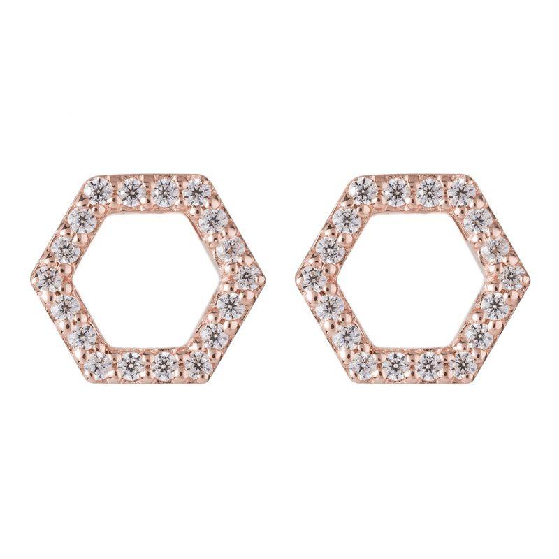 Copenhagen Earrings In Rose Gold