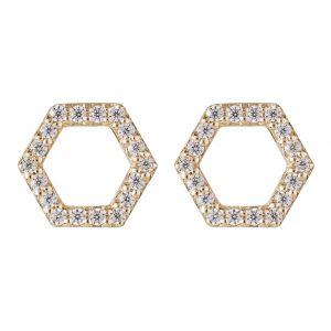 Copenhagen Earrings In Yellow Gold