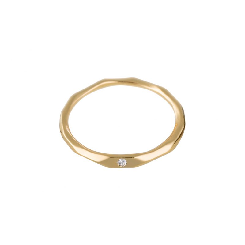 Faceted Ring In Yellow Gold
