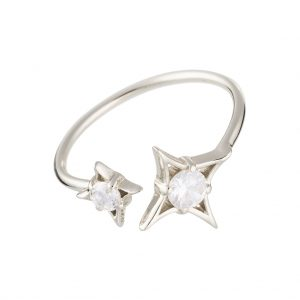 Guiding Star Ring In Rose Gold