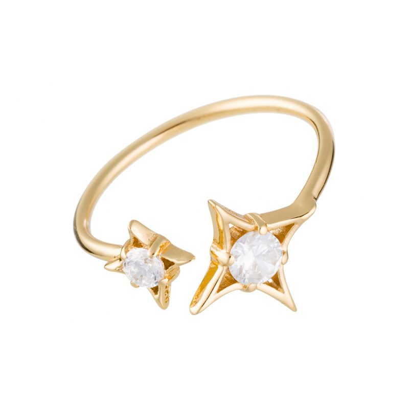 Guiding Star Ring In Yellow Gold