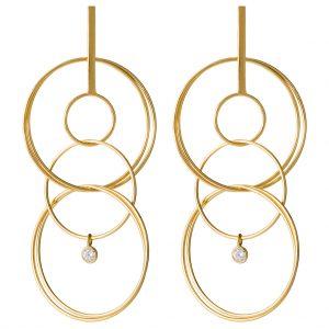 London Drop Earrings In Yellow Gold