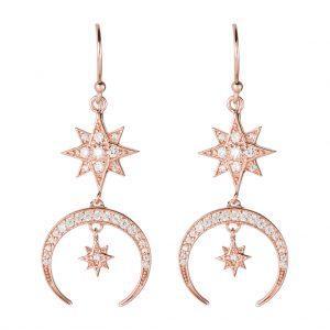 Luna Earrings In Rose Gold