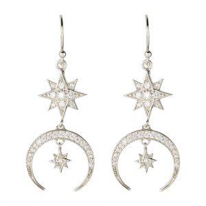 Luna Earrings In Sterling Silver