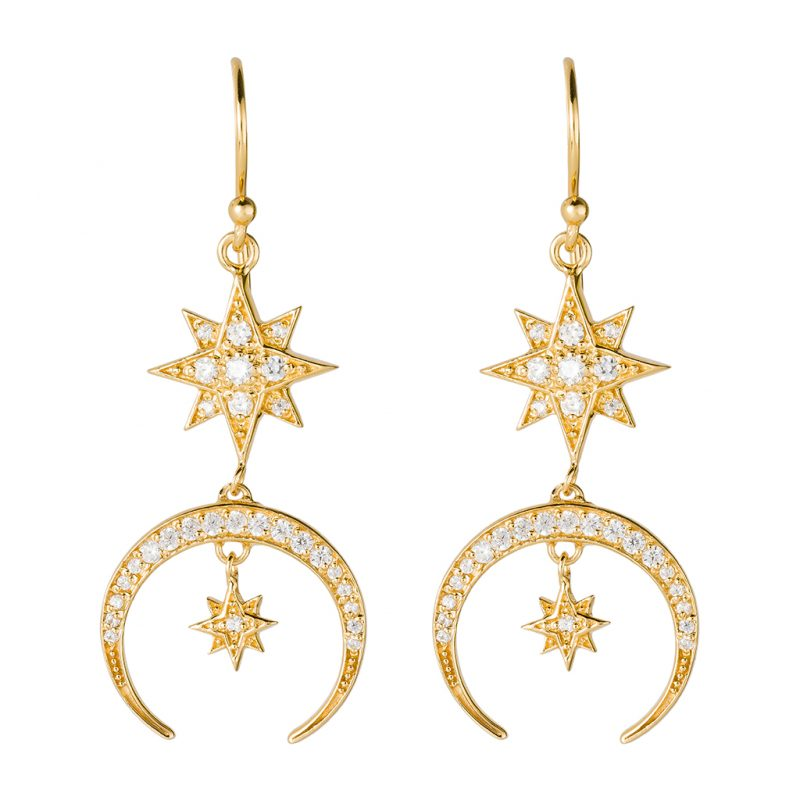 Luna Earrings In Yellow Gold