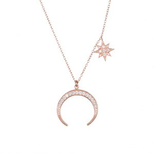 Luna Necklace In Rose Gold