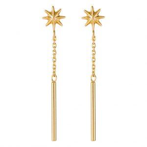 Lyra Drop Earrings In Yellow Gold