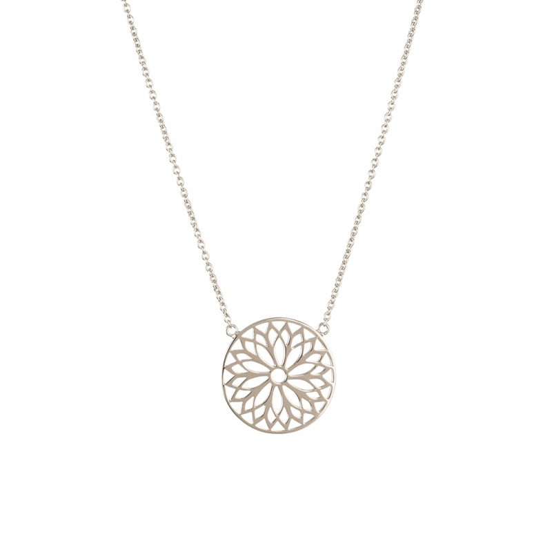 Mandala Necklace In Sterling Silver