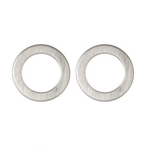 Marie Disc Earrings In Sterling Silver