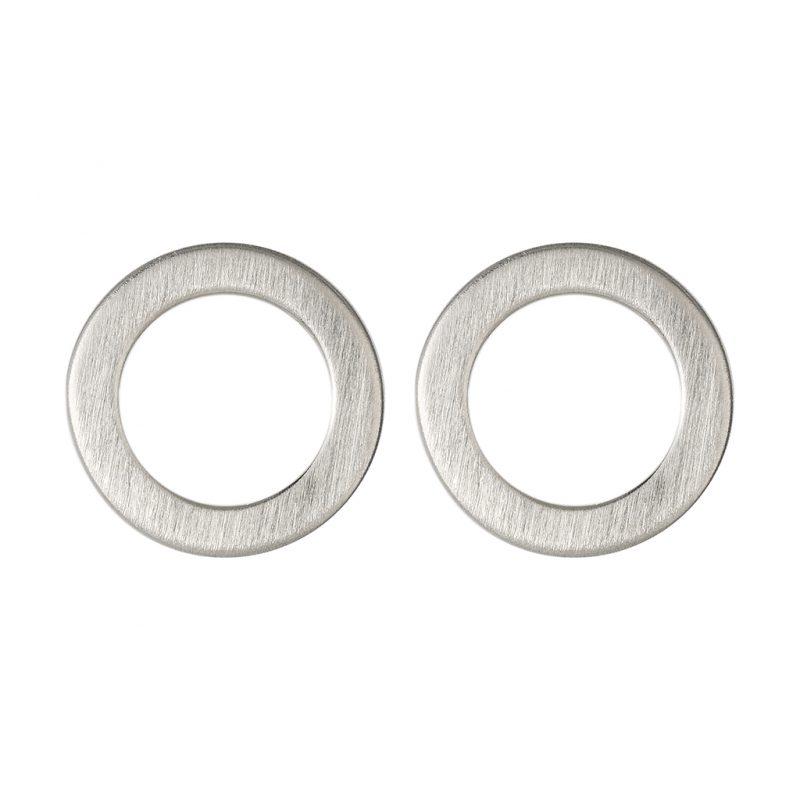 Marie Disc Earrings In Sterling Silver