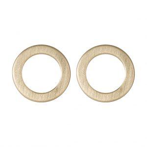 Marie Disc Earrings In Yellow Gold