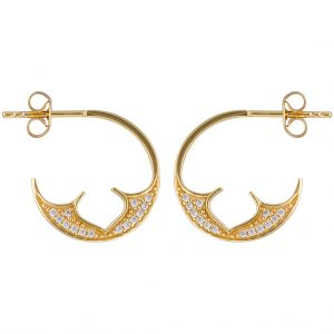 Marrakesh Hoops In Yellow Gold