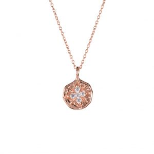 Maya Coin Necklace In Rose Gold