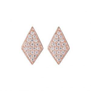 Mumbai Diamond Earrings In Rose Gold