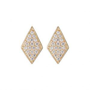 Mumbai Diamond Earrings In Yellow Gold