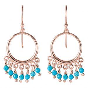 Navajo Earrings In Rose Gold