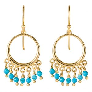 Navajo Earrings In Yellow Gold