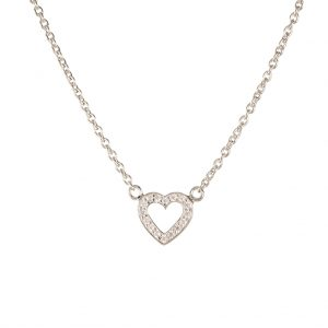 Paris Heart Necklace In Sterling Silver