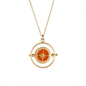 Quest Spinner Necklace In Yellow Gold