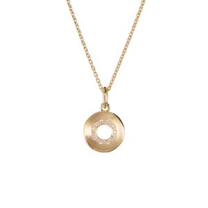 Radial Necklace In Yellow Gold