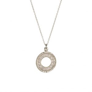 Scared Coin Necklace In Sterling Silver