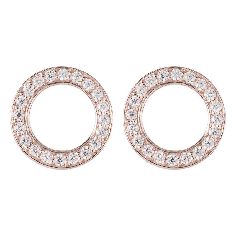 Shanghai Disc Earrings In Rose Gold