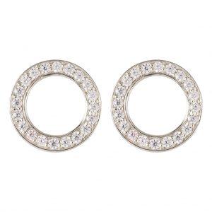 Shanghai Disc Earrings In Sterling Silver
