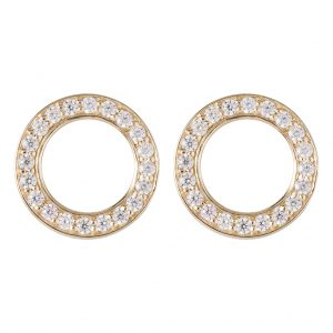 Shanghai Disc Earrings In Yellow Gold