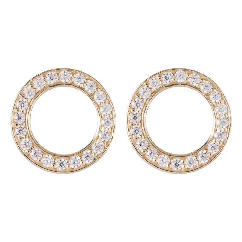 Shanghai Disc Earrings In Yellow Gold