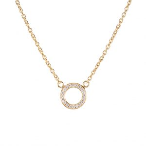 Shanghai Disc Necklace In Yellow Gold