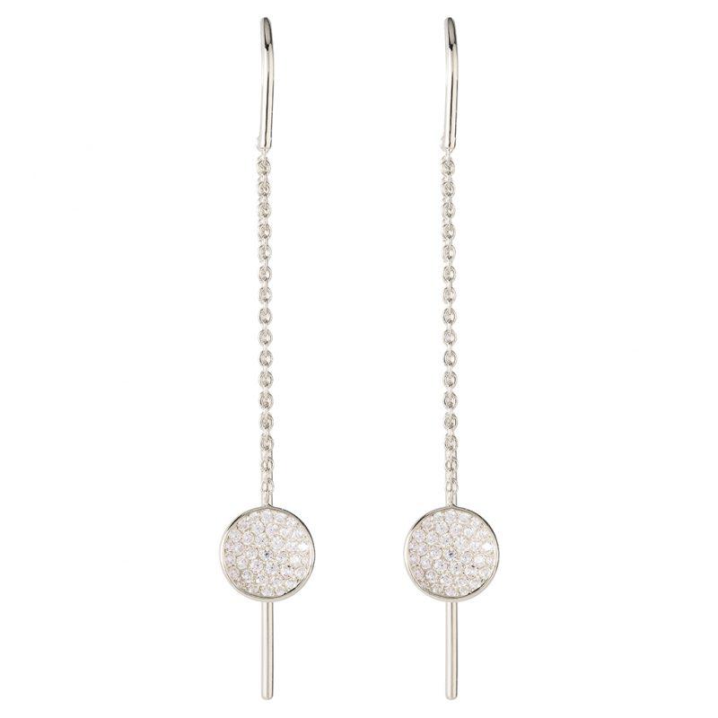 Tokyo Thread-Through Earrings In Sterling Silver